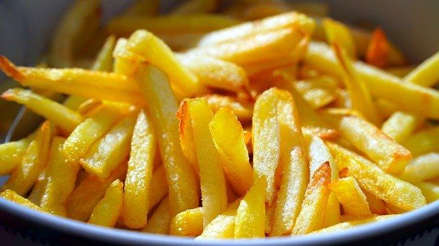 vetarme frietjes uit de airfryer