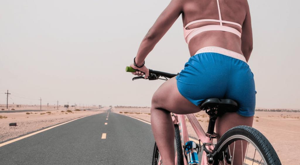vlekken door fietszadel