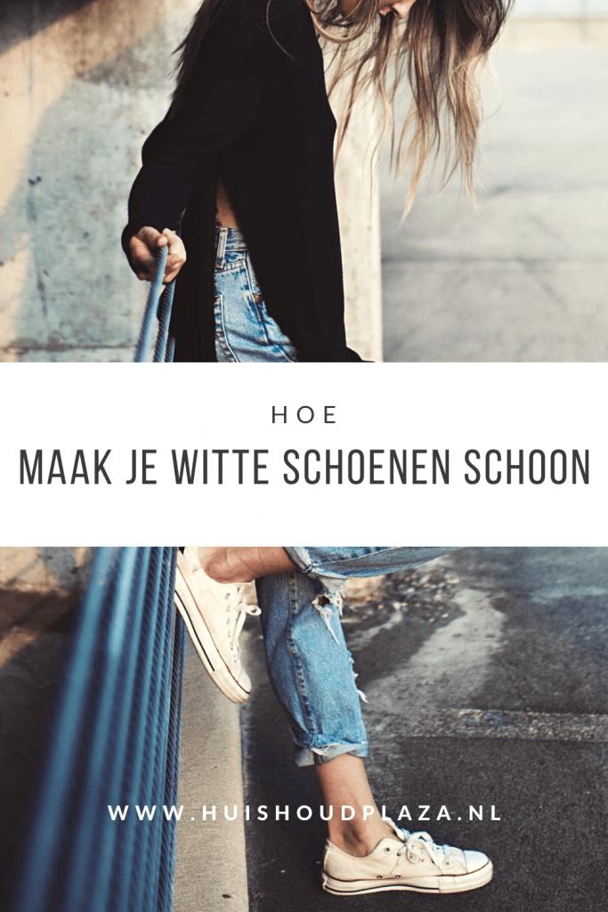 Hoe maak je witte schoenen schoon