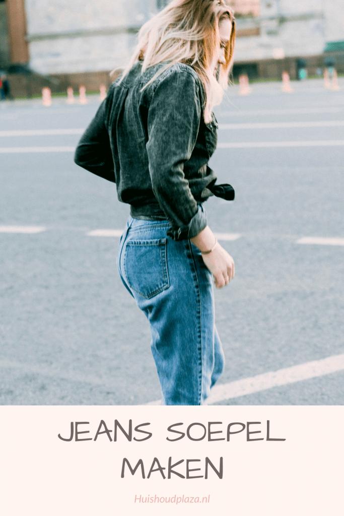 Jeans soepel maken