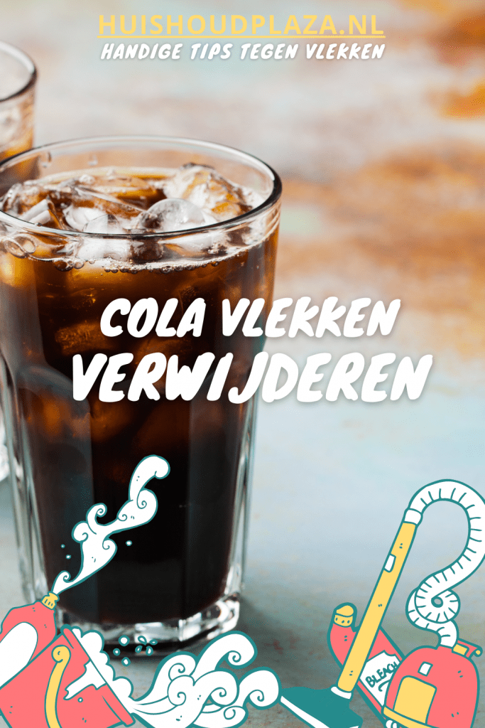 cola vlekken verwijderen