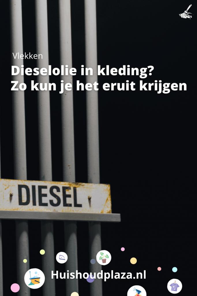 dieselolie in kleding