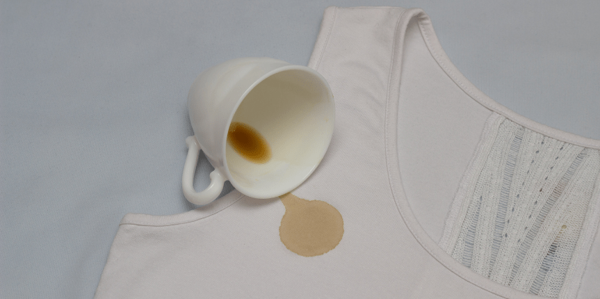 koffievlek kleren