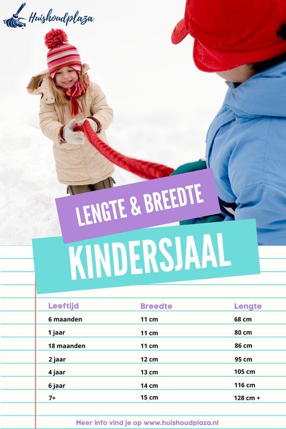 lengte en breedte kindersjaal