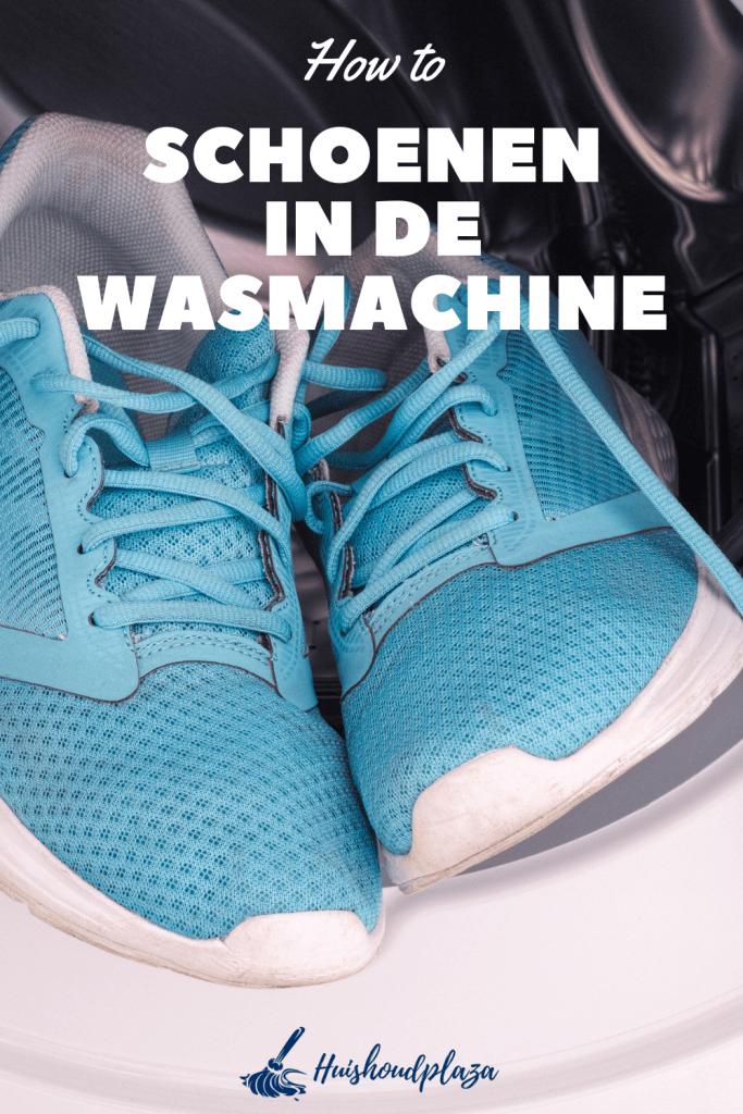 schoenen in de wasmachine doen